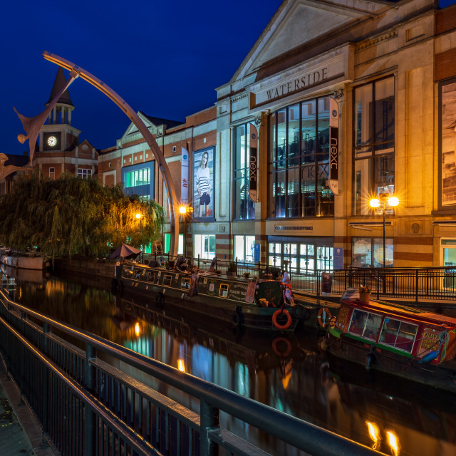 """Waterside, Lincoln"" stock image"