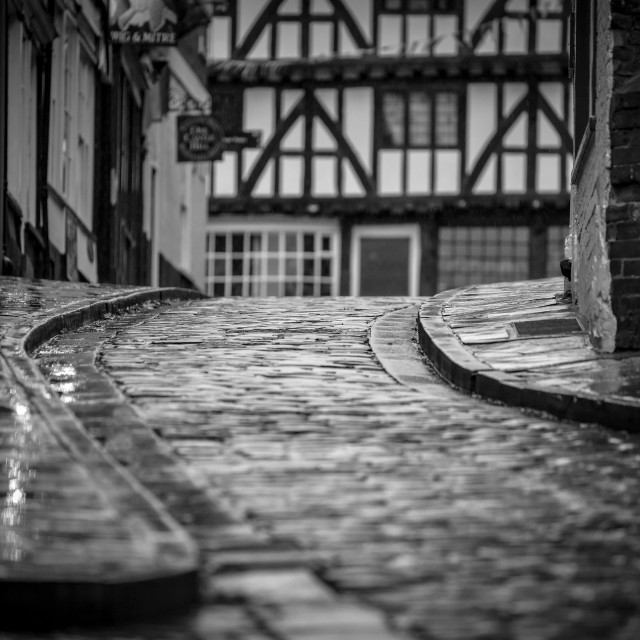 """The Cobbles - Lincoln"" stock image"