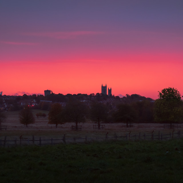 """Sunrise over Lincoln"" stock image"