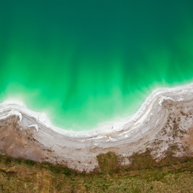 """""""Azure lake top view, abstract fantasy green and brown pattern background"""" stock image"""