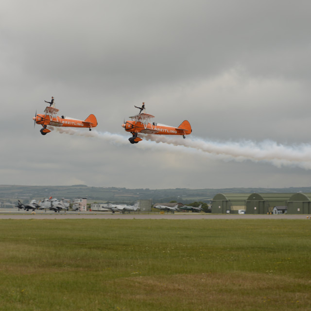 """""""The Breitling Wingwalkers"""" stock image"""