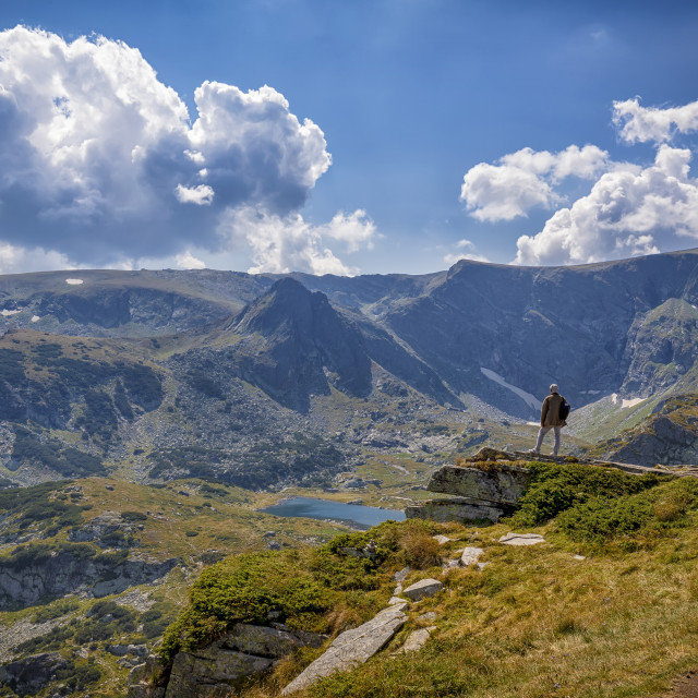 """""""Travel in the mountains."""" stock image"""