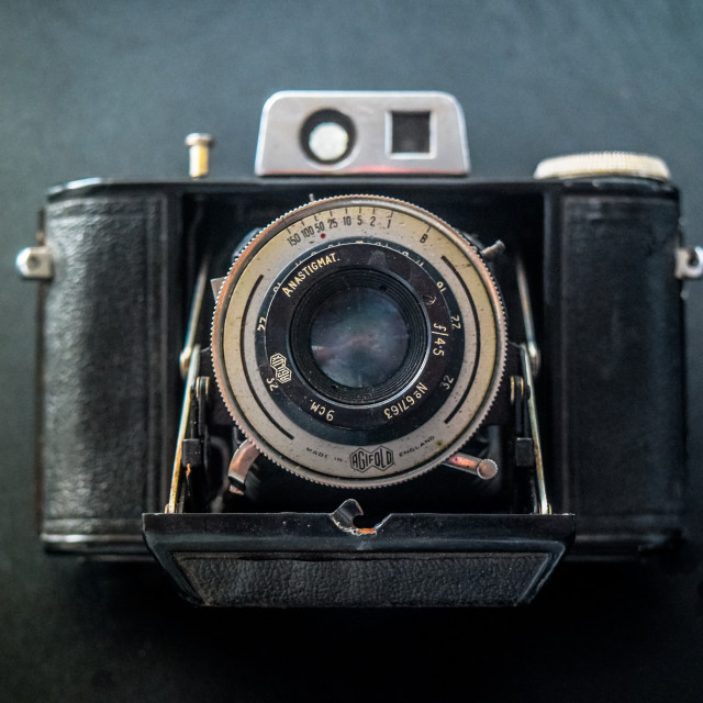 """Vintage Folding Camera"" stock image"