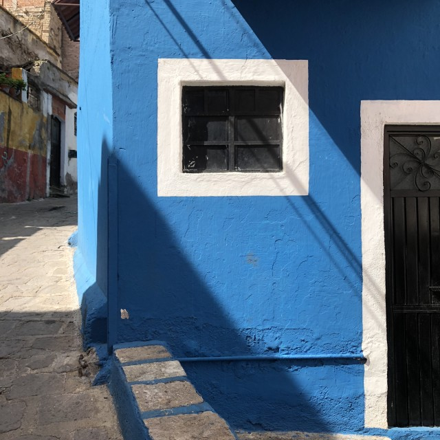 """Blue and White Stucco"" stock image"