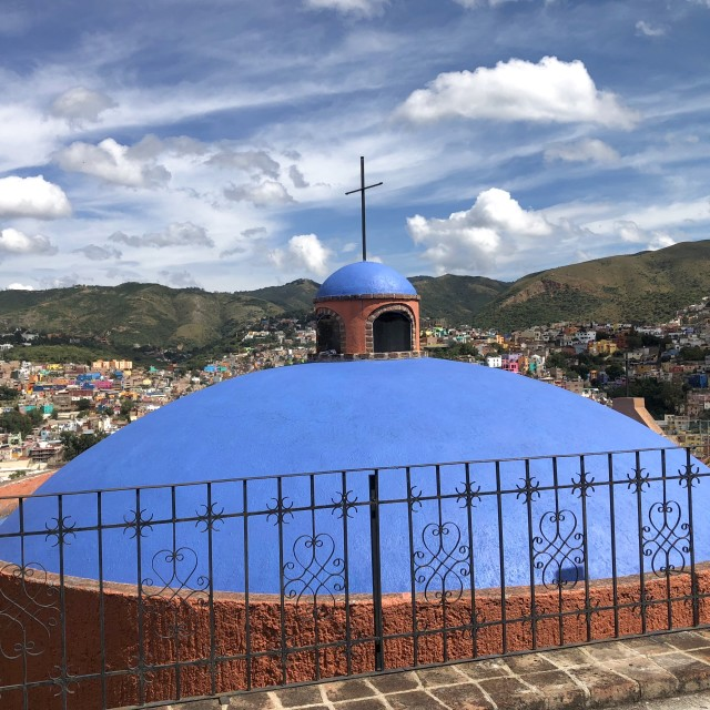 """Blue Chapel Dome"" stock image"