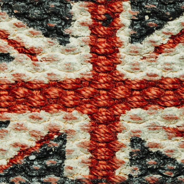 """""""Woven Union Jack flag"""" stock image"""
