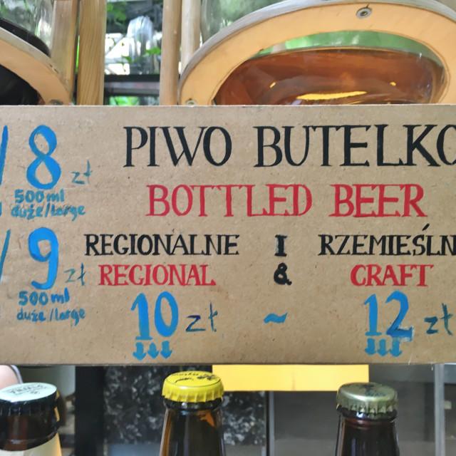 """""""Krakow: beer sign"""" stock image"""