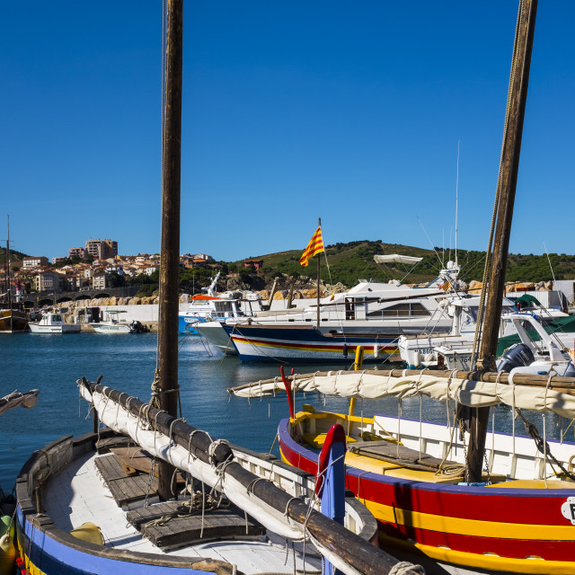 """Harbour in Banyuls Sur Mer"" stock image"