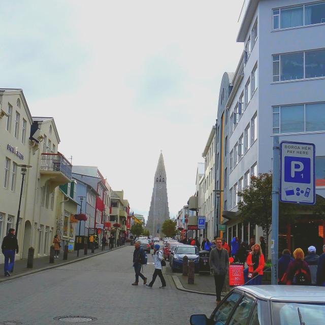 """Life in Reykjavik, Iceland"" stock image"