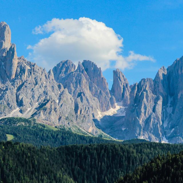 """Dolomites Panoramic - Up Close"" stock image"