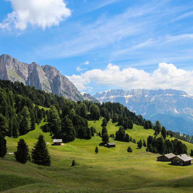 """A Valley in the Dolomites"" stock image"