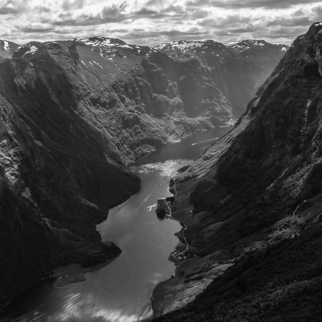 """""""Nærøyfjord"""" stock image"""