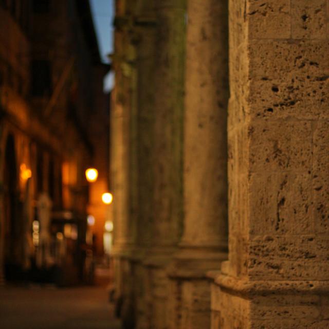 """Around a Corner, Bologna."" stock image"
