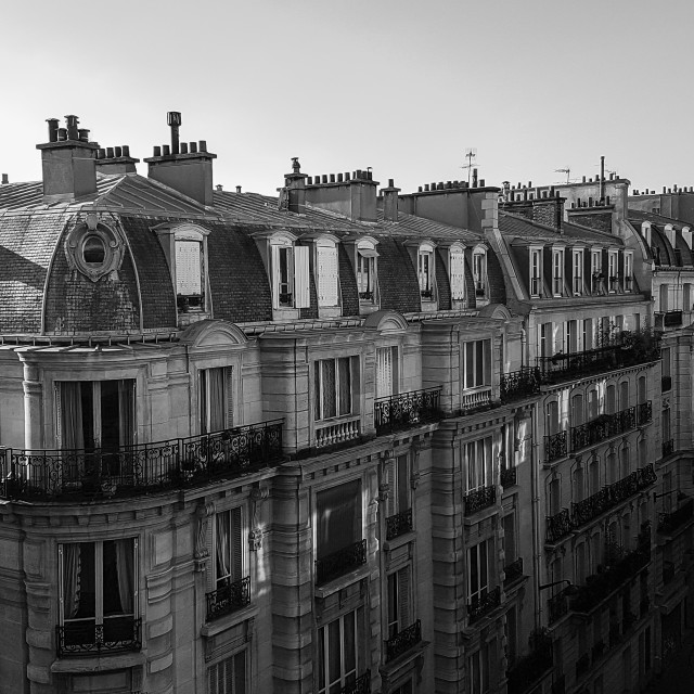 """Paris Rooftops"" stock image"