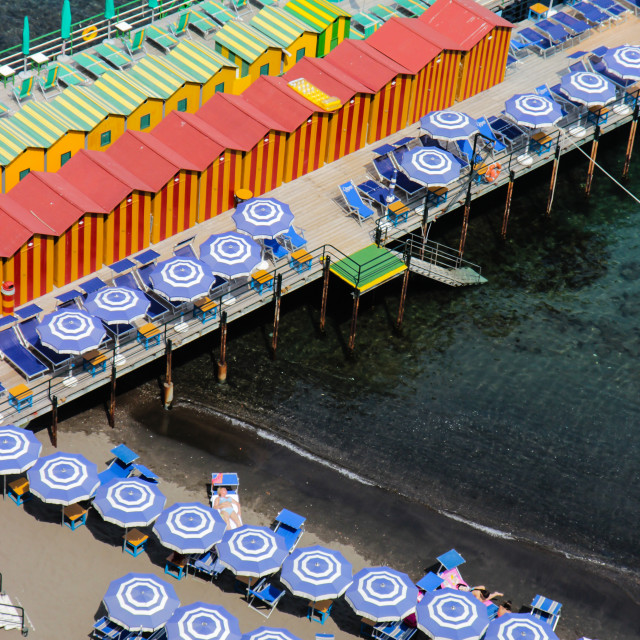 """Bathing Piers Two"" stock image"