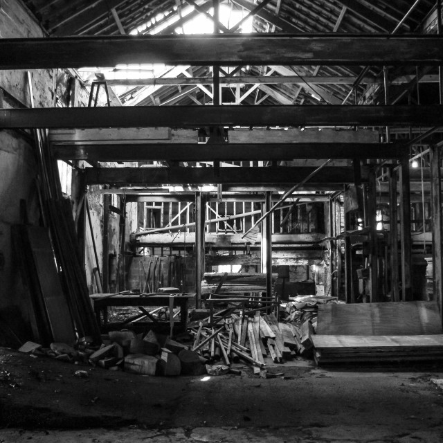 """Forgotten Warehouse"" stock image"