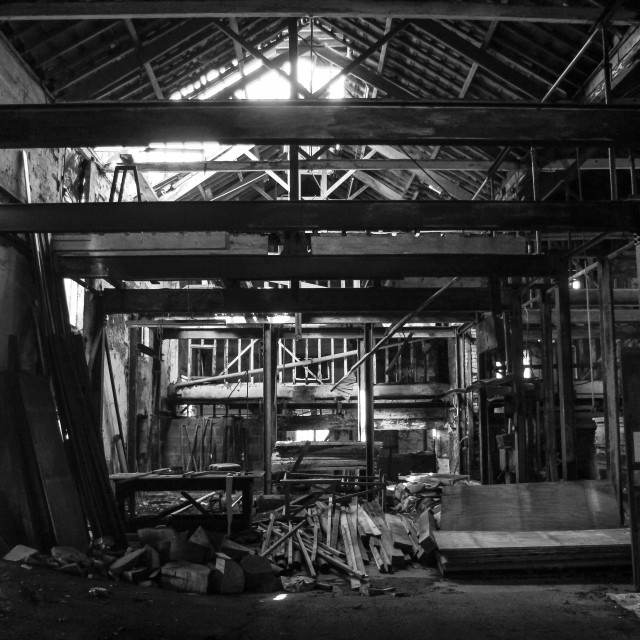 """Forgotten Warehouse Two"" stock image"