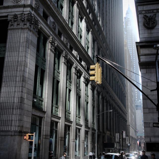 """New York's dawn"" stock image"