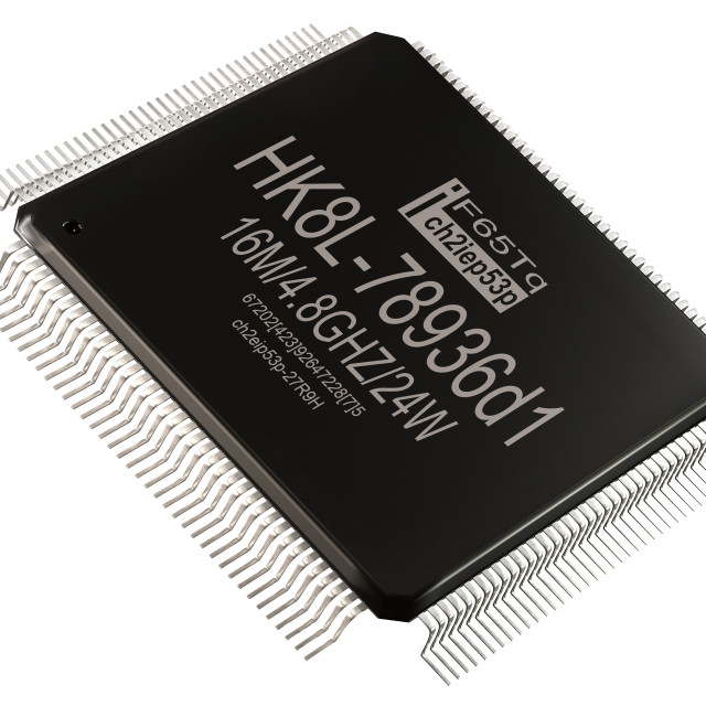 """Integrated circuit or lowpass information micro chip and new technologies on..."" stock image"