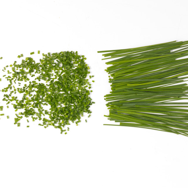"""chopped chives"" stock image"