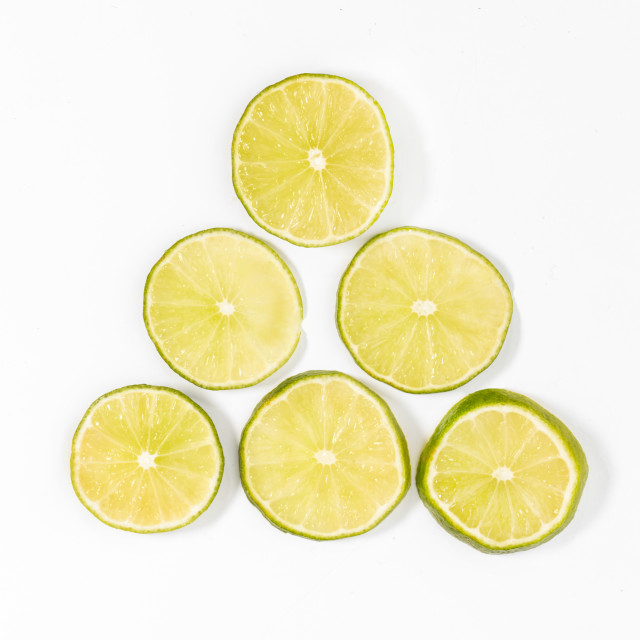 """sliced limes"" stock image"