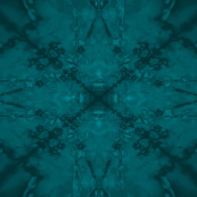 """Green star kaleidoscope pattern"" stock image"