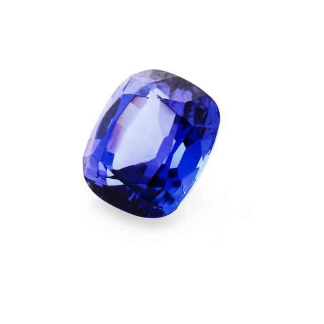 """""""1.40 carat, tanzanite cushion gemstone"""" stock image"""