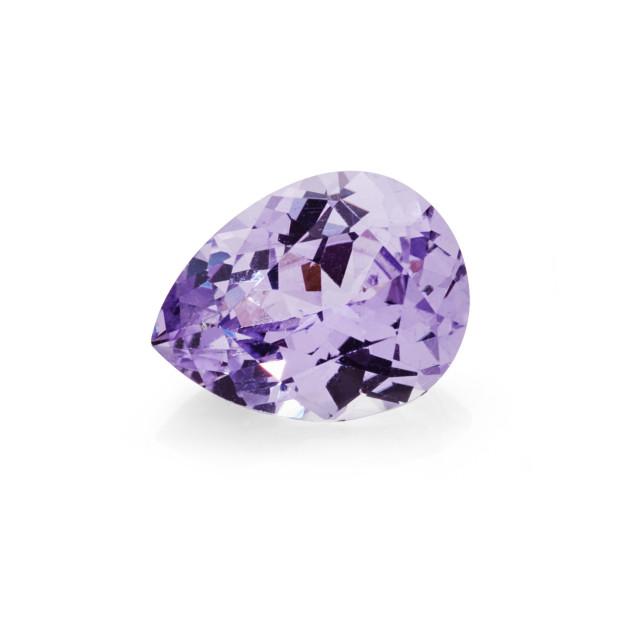 """1.54 carat pink tourmaline pear shaped gemstone"" stock image"