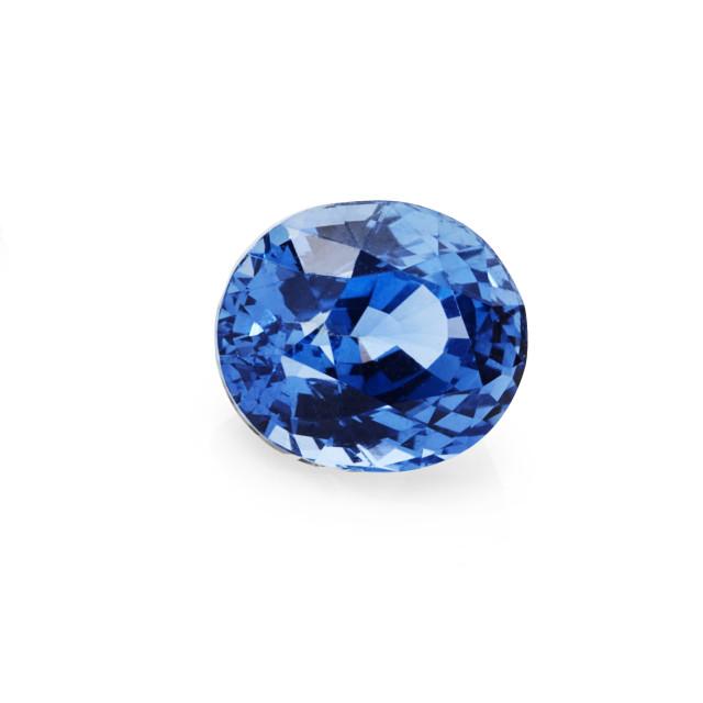 """1.61ct blue sapphire gemstone"" stock image"