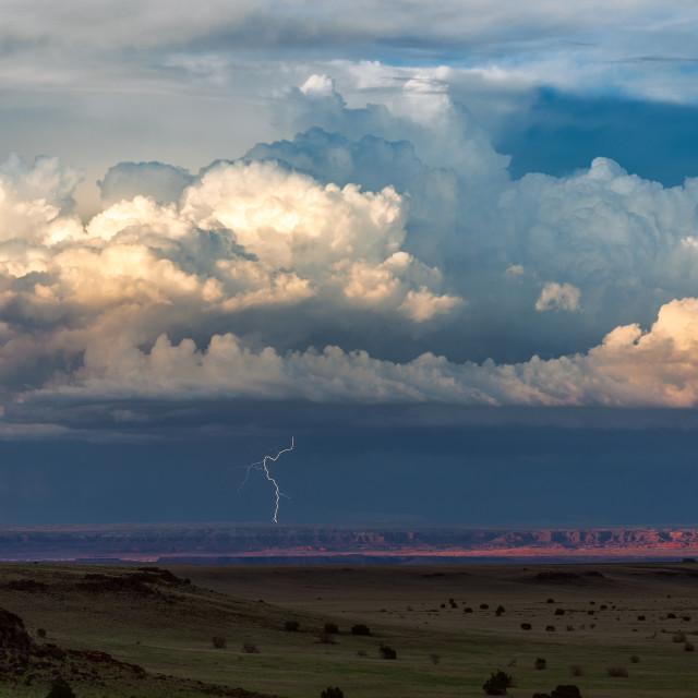 """Cumulonimbus thunderstorm clouds"" stock image"