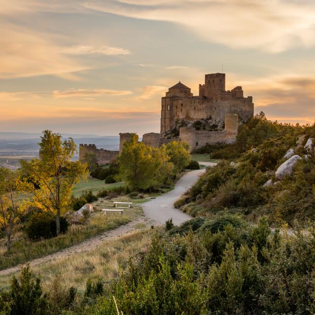"""Medieval castle of Loarre,Aragon, Spain"" stock image"