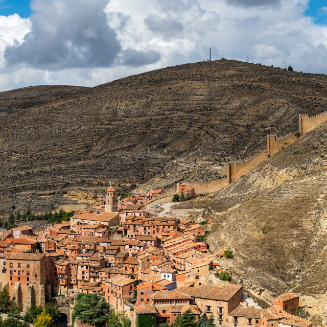 """Albarracin, medieval town of Spain, in the province of Teruel"" stock image"