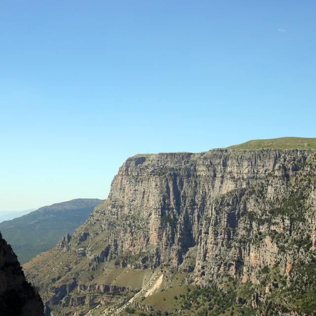 """Vikos gorge Zagoria Greece landscape"" stock image"