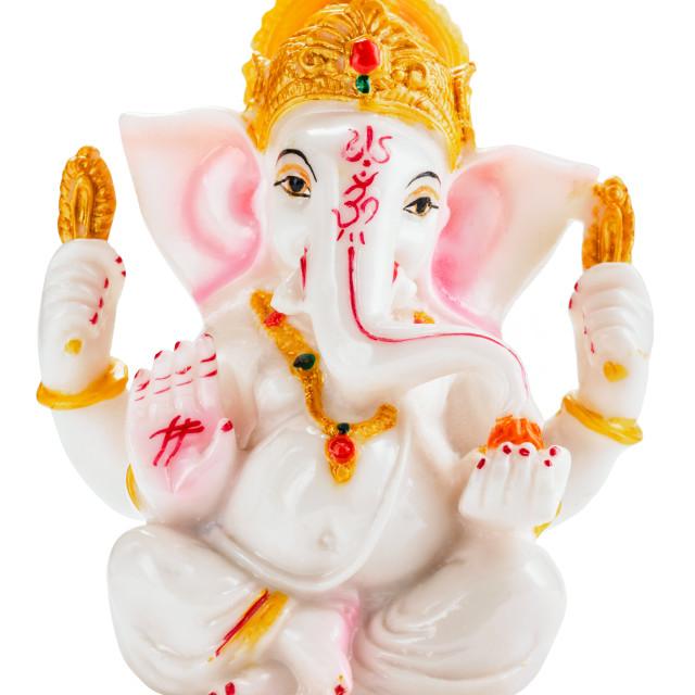 """""""Ganesha statue on white"""" stock image"""