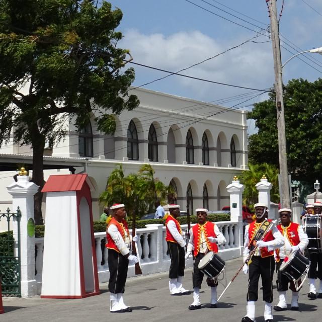 """Changing of the Sentry, Bridgetown, Barbados"" stock image"
