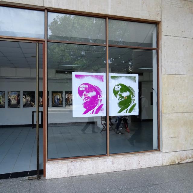 """""""Gallery front in Havana, Cuba"""" stock image"""