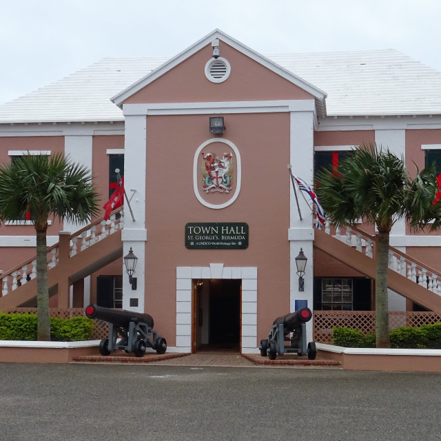 """""""Town Hall, St Georges, Bermuda"""" stock image"""
