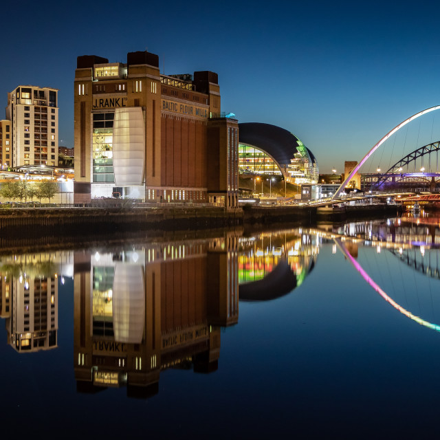 """Reflections in the River Tyne"" stock image"