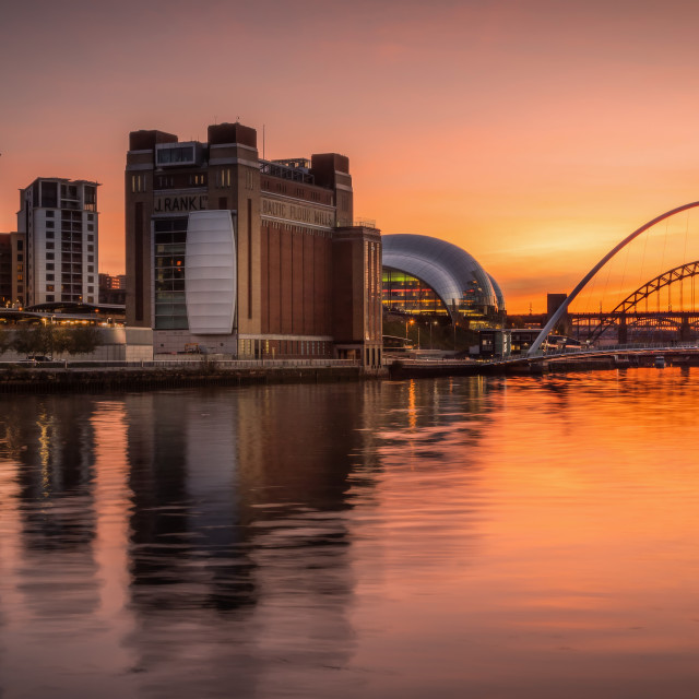 """River Tyne Sunset"" stock image"
