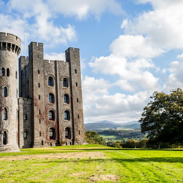 """Penrhyn castle north Wales"" stock image"