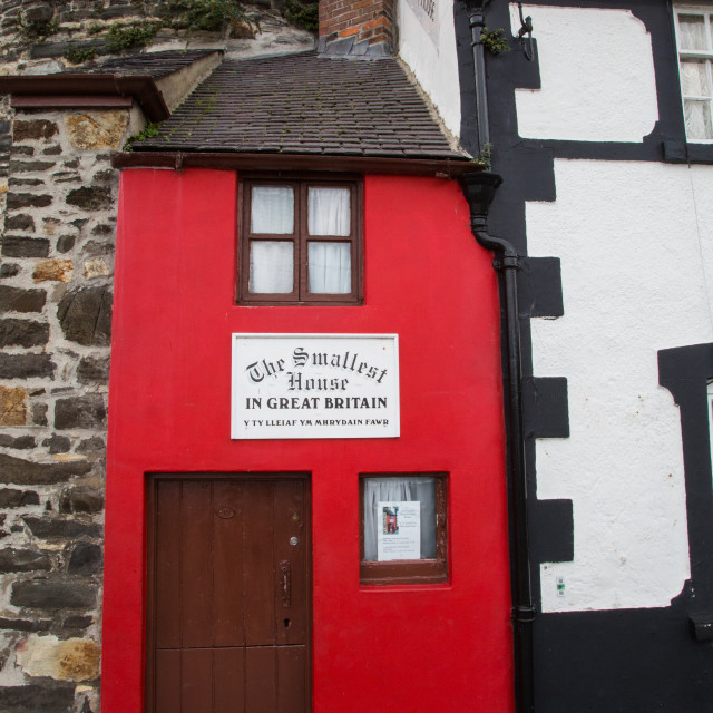 """""""Smallest house in Great Britain"""" stock image"""