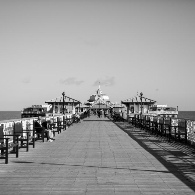 """""""Landudno pier"""" stock image"""