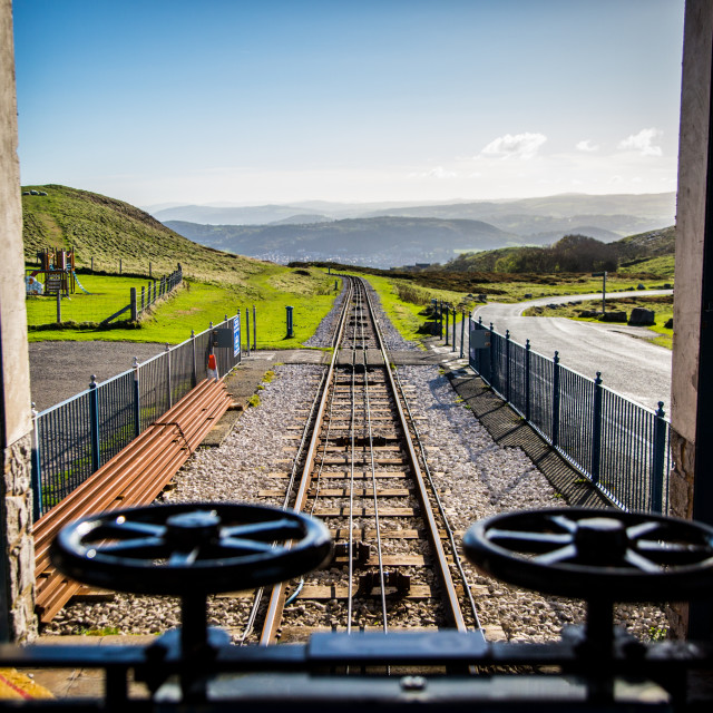 """""""The Great Orme Tramway"""" stock image"""