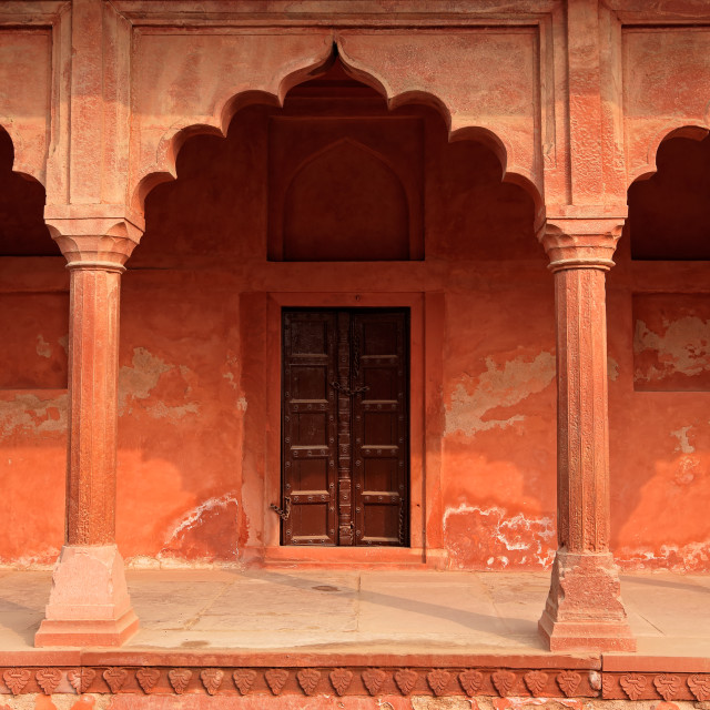 """Architecture at Taj Mahal entrance"" stock image"