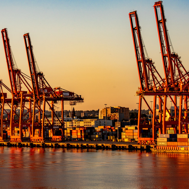 """""""Port of Vancouver"""" stock image"""