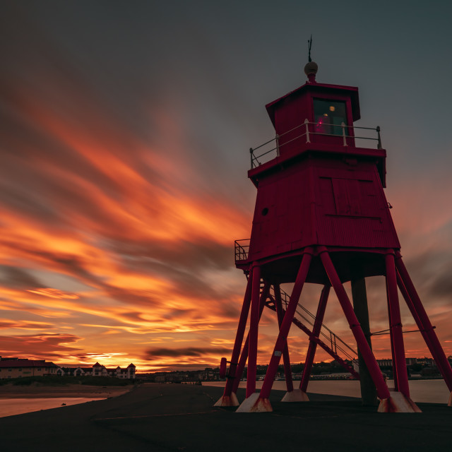 """Sunset at Herd Lighthouse"" stock image"
