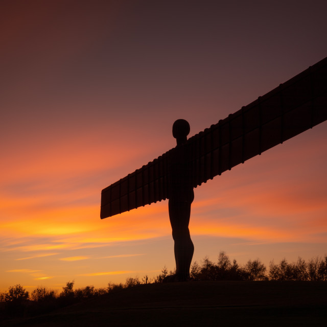 """Angel of the North at Sunset"" stock image"
