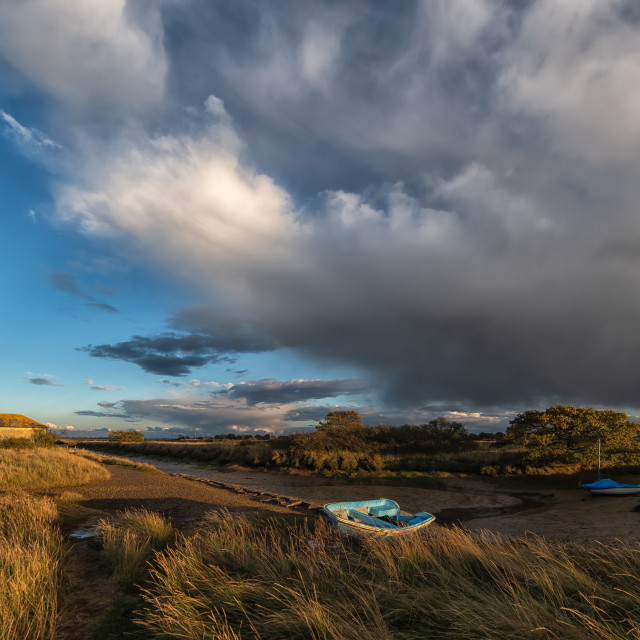 """""""Storms Leaving The Essex Coast"""" stock image"""