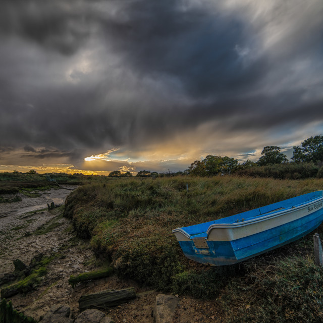 """""""Armageddon Clouds Over Essex Backwaters"""" stock image"""