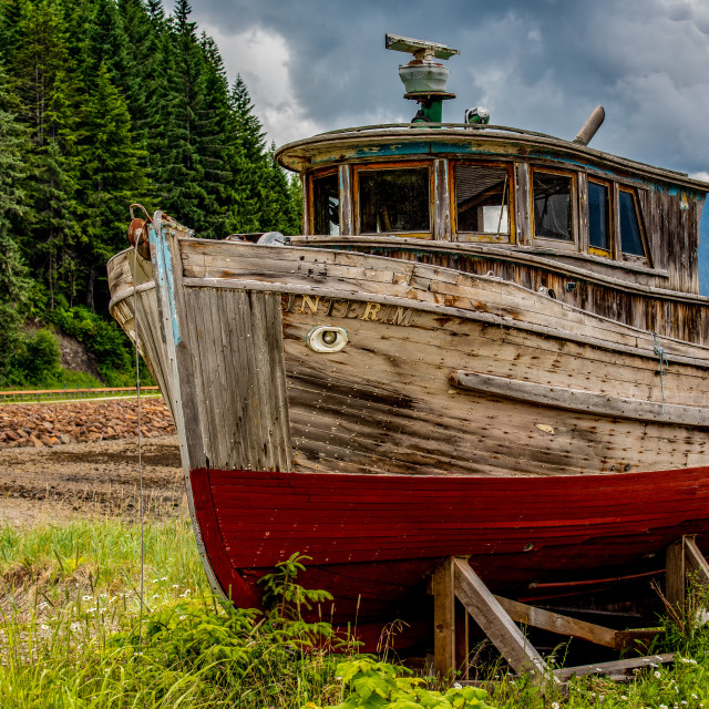 """""""Abandoned at Icy Strait Point"""" stock image"""